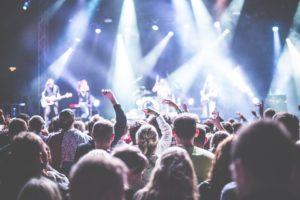 Public, Bande, Célébration, Concert, Foule, Festival